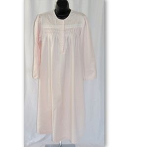 Miss Elaine Flannel Lined Smocked Night Gown